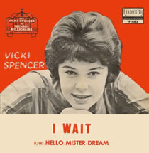 I Wait by Vicki Spencer 45 RPM record cover